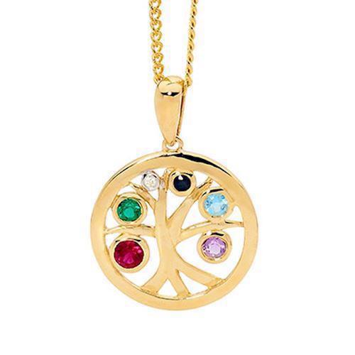 Bee Jewellery Tree of Life 9 Karat Goldanhänger, Modell 65618-Multi
