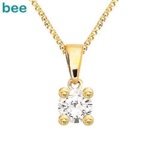 Bee Jewelry Solitaire 0,20 ct H-SI Anhänger, model 60985_A20