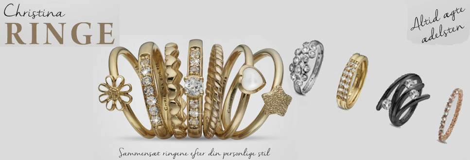 Christina fingerrings buy them here at your Watch and Jewelry shop