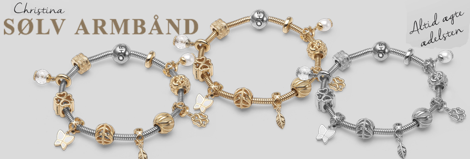 Christina Silver bracelets with charms buy them at Your Watch and Jewelry shop