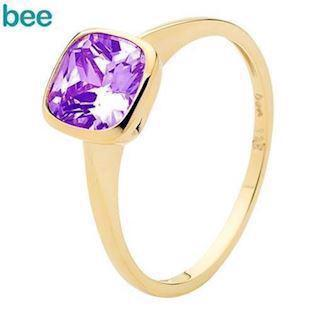 Amethyst Solitaire Gold Ring